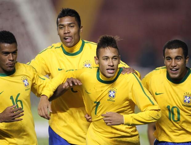 brasil x uruguai neymar gol (Foto: Mowa Press)