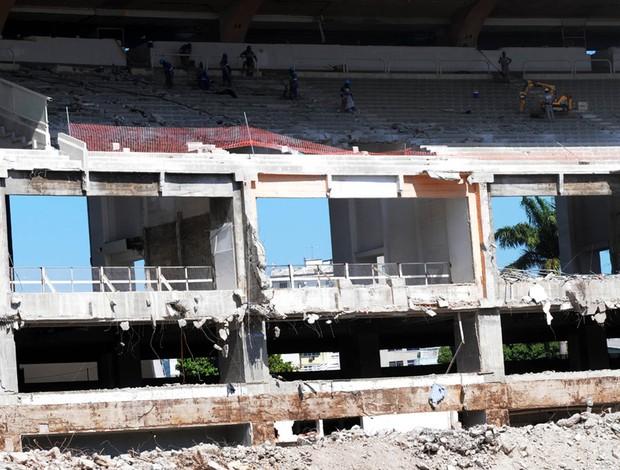 obras Maracanã (Foto: André Durão / Globoesporte.com)