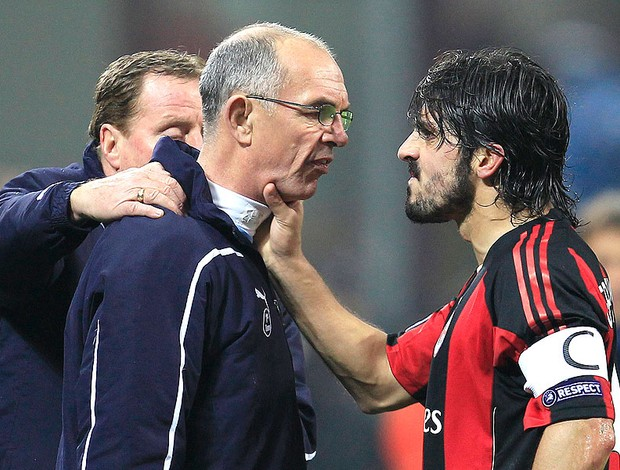 Gattuso revoltado após derrota do Milan para o Tottenham (Foto: Reuters)