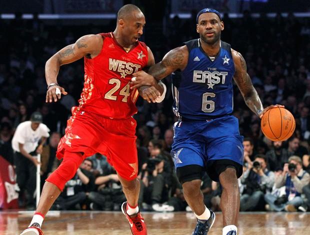 Kobe Bryant e LeBron James All Star Game (Foto: Reuters)