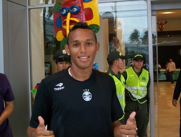 Lateral Gilson, do Grêmio, em Barranquilla, na Colômbia (Foto: Eduardo Cecconi/Globoesporte.com)