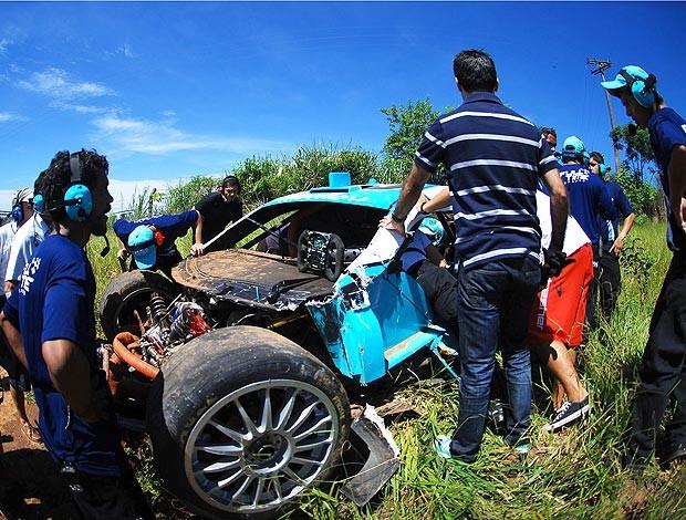 Stock Car: carro de Xandinho Negrão após o acidente (Foto: Duda Bairros/Divulgação)