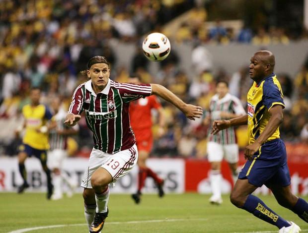 Rafael Moura Fluminense x América-MEX (Foto: Photocamera)