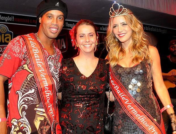ronaldinho gaúcho patricia amorim  christine fernandes baile vermelho e preto (Foto: Alexandre Vidal / Fla Imagem)