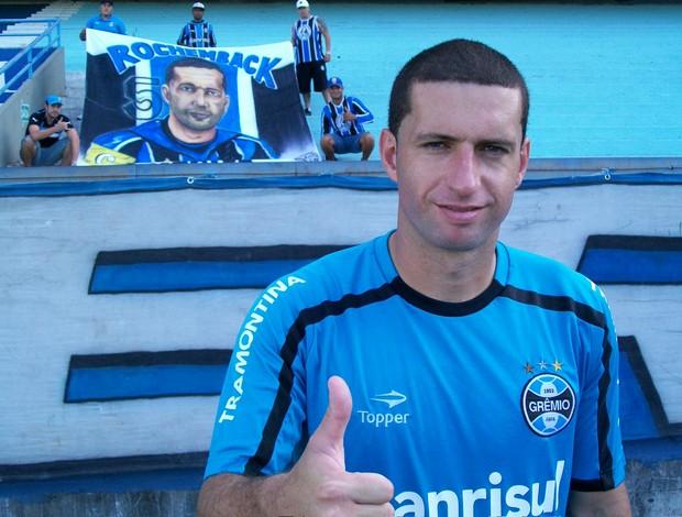 Fábio Rochemback, volante do Grêmio (Foto: Eduardo Cecconi/Globoesporte.com)