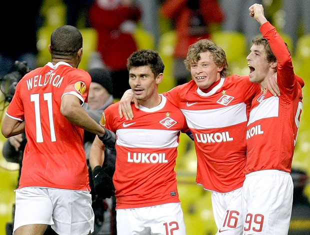 Welliton Alex gol Spartak (Foto: AP)