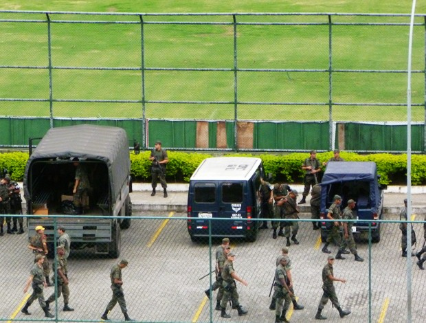 exército, gávea flamengo (Foto: Marcelo Baltar/Globoesporte.com)