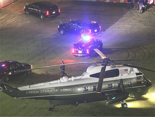 obama gávea flamengo helicóptero (Foto: Pedro Kirilos/Globo)