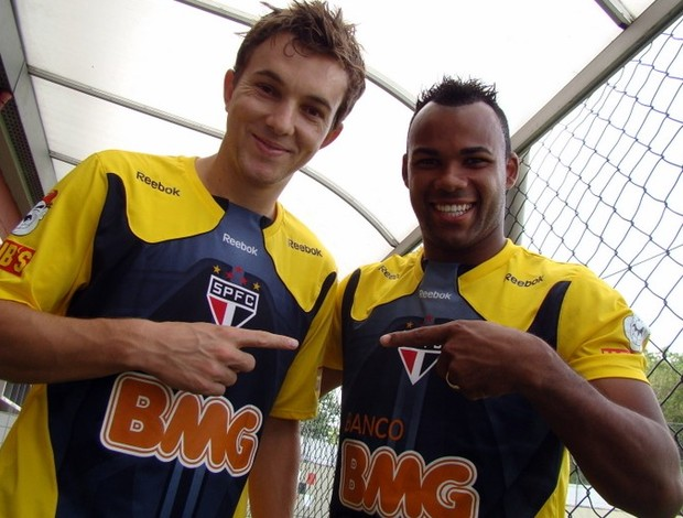 Dagoberto e Fernandinho, do São Paulo (Foto: Site oficial do São Paulo FC)
