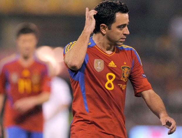 Xavi da Espanha (Foto: AFP)