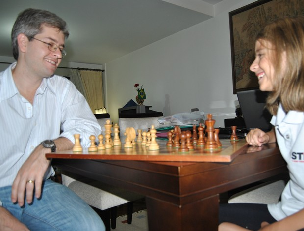 Katherine Vescovi Giovanni Vescovi xadrez (Foto: João Gabriel Rodrigues / Globoesporte.com)