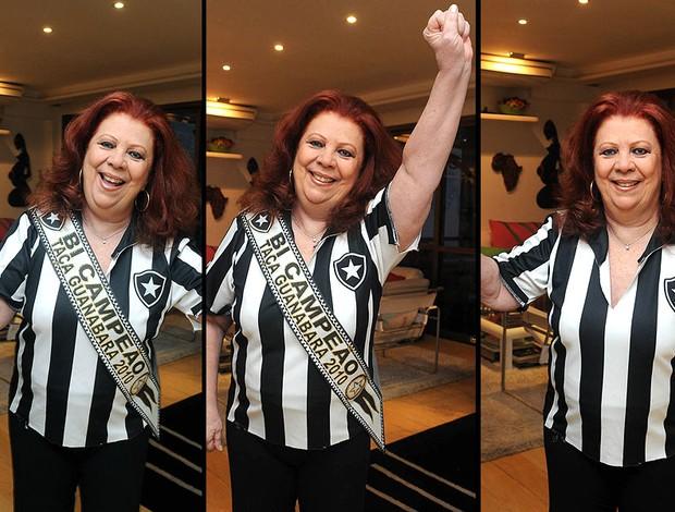 Beth Carvalho, torcedora do Botafogo (Foto: André Durão / GLOBOESPORTE.COM)