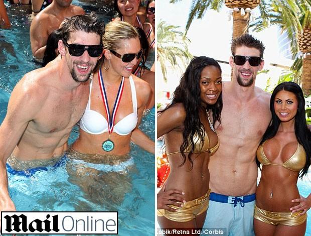 Michael Phelps durante festa  (Foto: Reprodução / Mail Online)