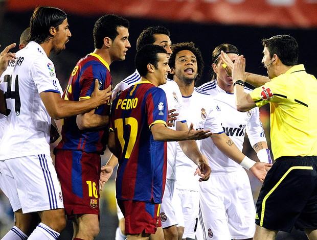 partida entre Barcelona e Real Madrid pela Copa do Rei (Foto: Reuters)