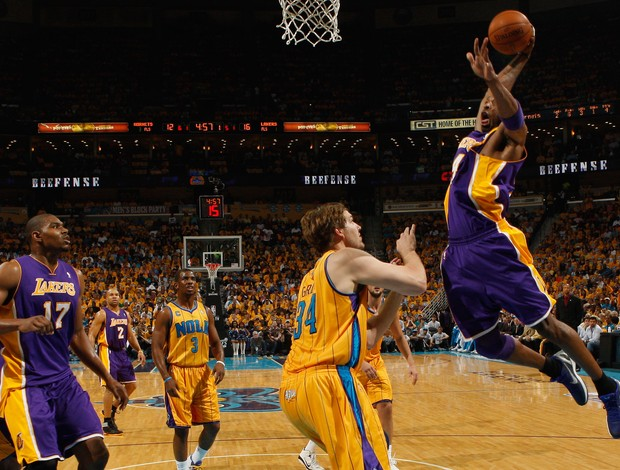 Kobe Bryant Los Angeles Lakers New Orleans Hornets Jogo 3 (Foto: Getty Images)