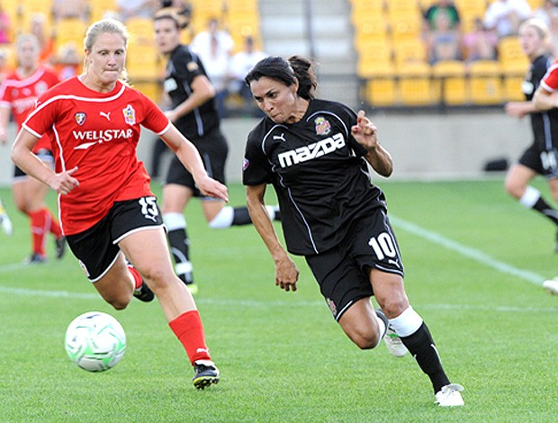 Marta na partida do New York Flash (Foto: Divulgação)