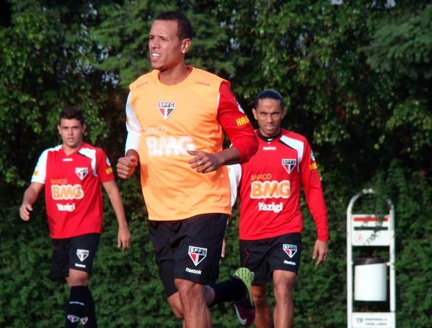 Luis Fabiano no treino do São Paulo (Foto: Rubens Chiri / Site oficial do São Paulo FC)