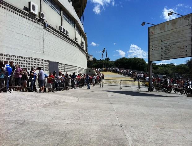 Fila no estádio do Morumbi  (Foto: Daniel Perrone/ Blog do torcedor do São Paulo)