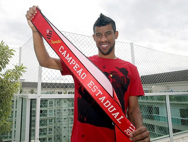Léo Moura Flamengo (Foto: Wagner Meier /  Globoesporte.com)