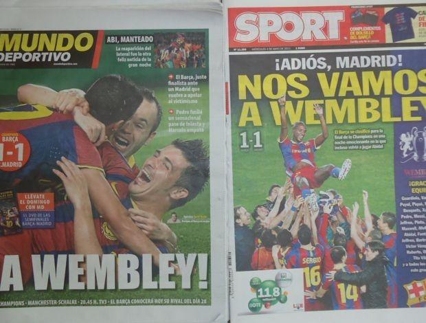 Jornais da Espanha (Foto: Thiago Dias / Globoesporte)