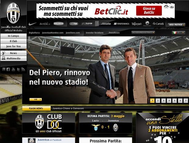 del piero juventus contrato novo estádio (Foto: Divulgação / Site oficial do Juventus)