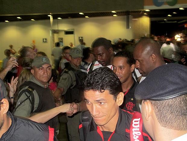 Ronaldinho Chegada Flamengo Fortaleza (Foto: Richard Souza / Globoesporte.com)