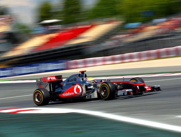 Hamilton treino GP da Espanha (Foto: EFE)