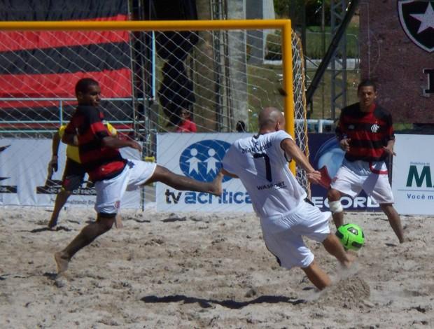 Botafogo x Flamengo de futebol de areia (Foto: divulgação)