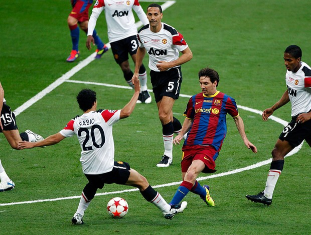 Messi na partida do Barcelona contra o Manchester na final da Liga (Foto: Reuters)