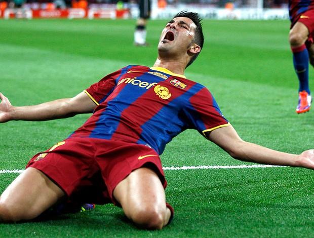 villa barcelona gol manchester united liga dos campeões (Foto: agência Reuters)
