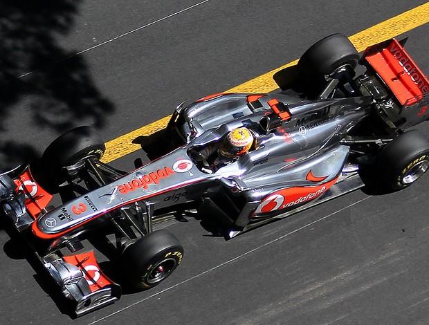 Hamilton no GP de Mônaco (Foto: AFP)