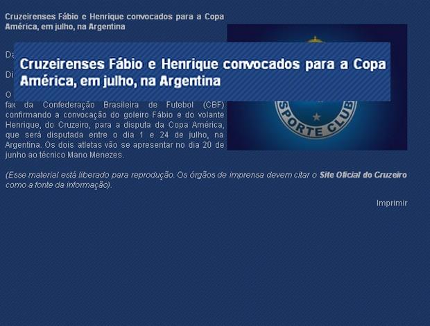 cruzeiro print screen 2 (Foto: Reprodução/Site Oficial)