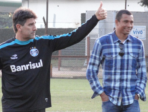 Gilberto Silva e Renato Gaúcho (Foto: Eduardo Cecconi/Globoesporte.com)