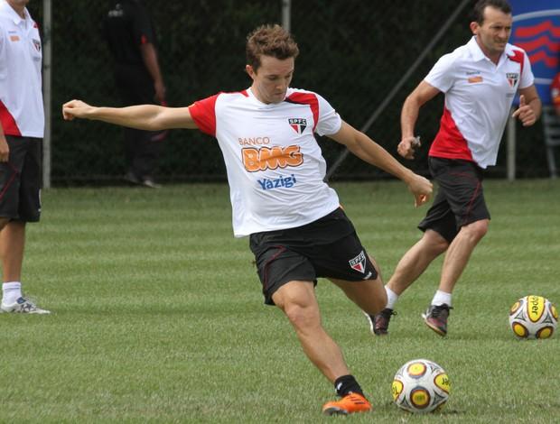 Dagoberto em treino no CT da Barra Funda (Foto: João Neto / VIPCOMM)