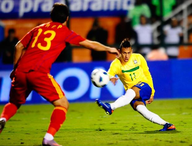 Neymar Brasil x Romênia (Foto: Marcos Ribolli / Globoesporte.com)