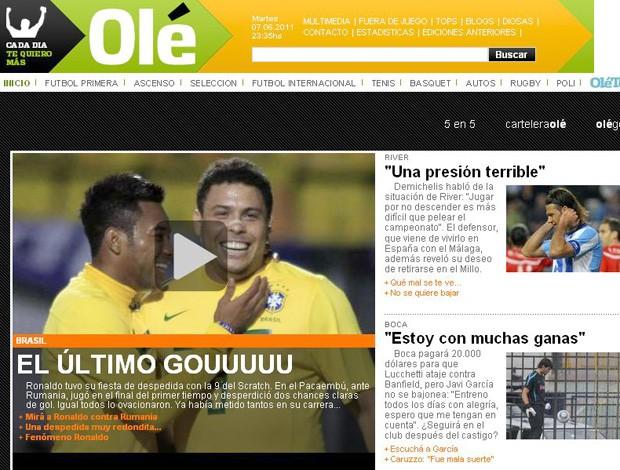 Capa Olé Ronaldo (Foto: Reprodução)
