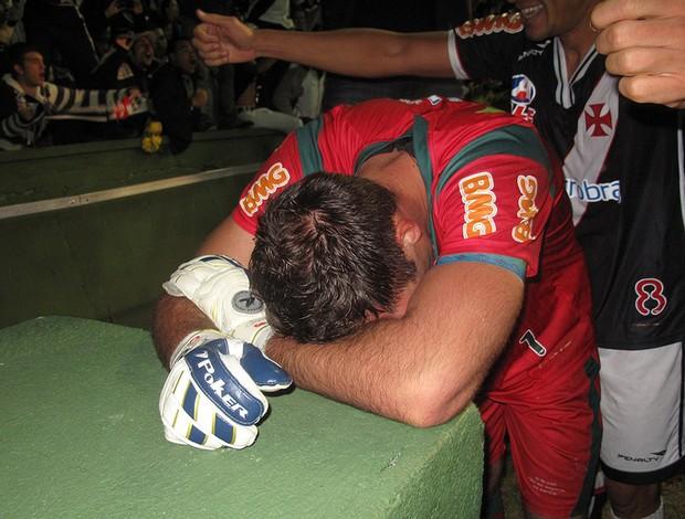 fernando prass choro  vasco (Foto: Rafael Cavalieri / Globoesporte.com)