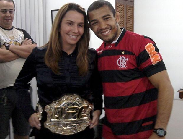Patricia Amorim e José Aldo (Foto: Adriano Albuquerque / Sportv.com)