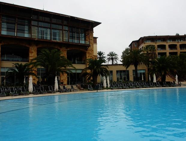 hotel seleção argentina piscina (Foto: Thiago Lavinas/Globoesporte.com)