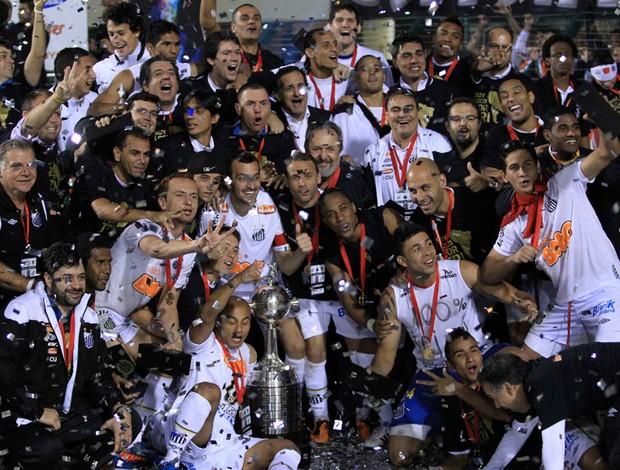 Jogadores Santos comemoração Libertadores (Foto: Reuters)