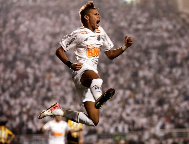 Neymar gol Santos x Peñarol (Foto: Reuters)
