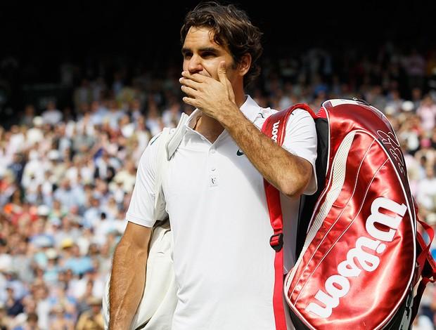 roger federer tênis Wimbledon quartasc (Foto: agência AP)