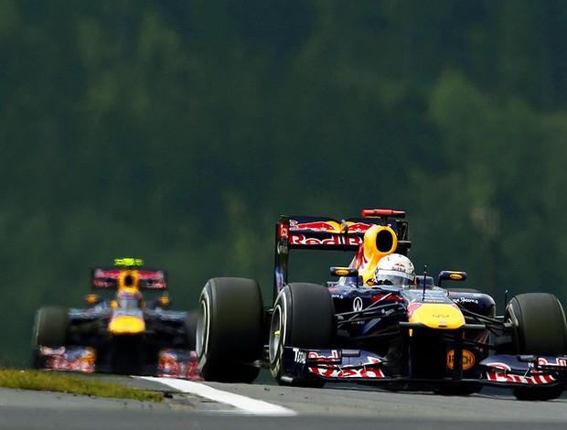 Vettel no treino do GP da Alemanha (Foto: EFE)