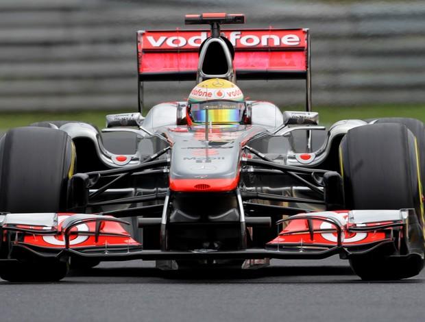 Lewis Hamilton treino livre Budapeste (Foto: agência AFP)