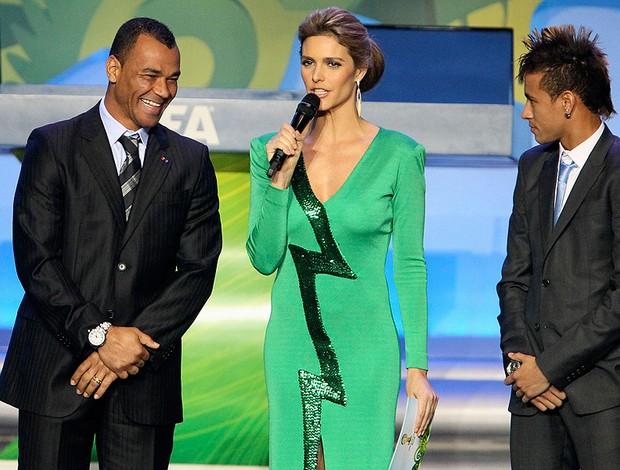 cafu fernanda lima neymar sorteio da copa do mundo 2014 (Foto: Agência Reuters)