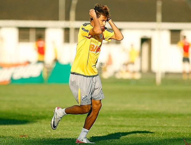 Neymar no treino do Santos (Foto: Ricardo Saubin / Site Oficial do Santos)