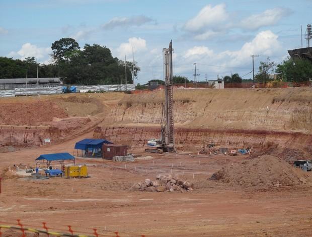 Obras no Arena da Amazônia - Manaus (Foto: Cahê Mota / GLOBOESPORTE.COM)