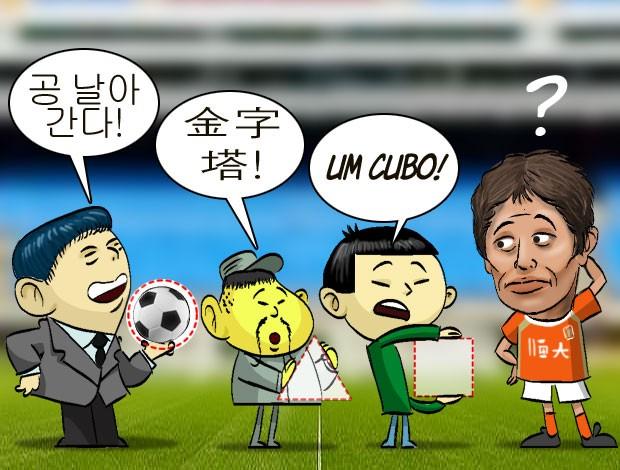 ilustração tradução conca (Foto: ArteEsporte / Cláudio Roberto)