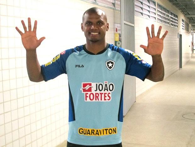 Jefferson no treino do Botafogo (Foto: Fábio Leme / Globoesporte.com)