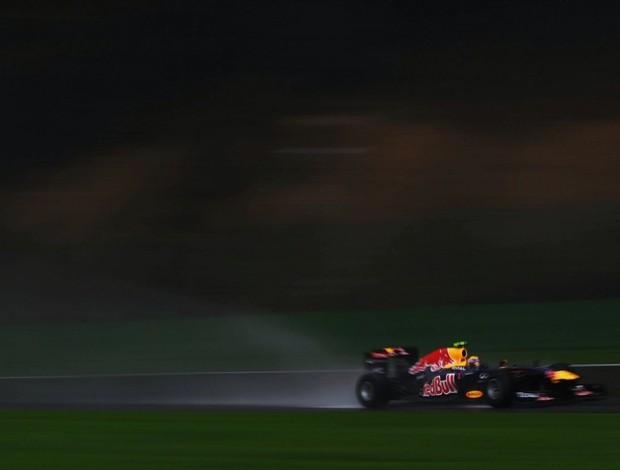 Mark Webber chuva treino livre RBR GP da Bélgica (Foto: Getty Images)